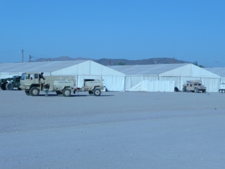 Military Tent Structure